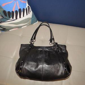 COACH Alexandra Black Leather Shoulder Bag